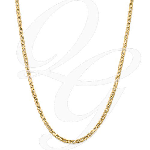 14k 4.1mm Semi-Solid Anchor Chain