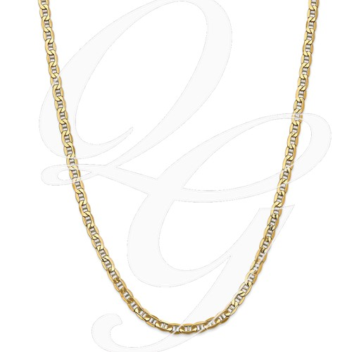 14k 4.7mm Semi-Solid Anchor Chain