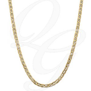 14k 5.5mm Semi-Solid Anchor Chain