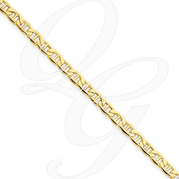14k Yellow Gold 2.40mm Anchor Chain
