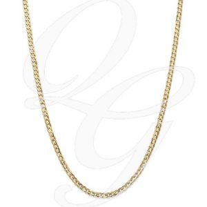 14k 3.8mm Concave Curb Chain